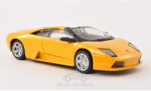 Lamborghini Murcielago 1/24 Motormax Roadster metallise yellow diecast model cars