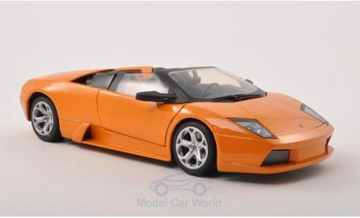 Lamborghini Murcielago Roadster 1/18 Motormax metallise orange diecast model cars