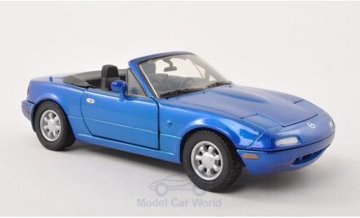 Mazda MX 1/24 Motormax -5 Miata metallise bleue miniature
