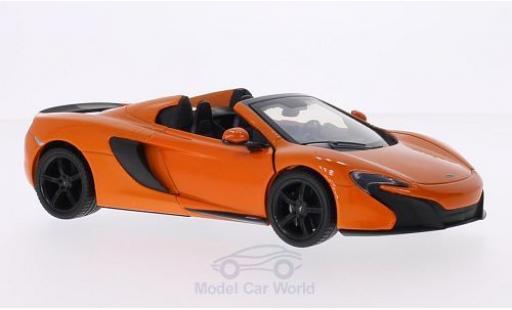 McLaren 650 1/24 Motormax S Spider orange miniature
