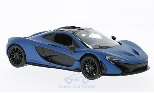 McLaren P1 1/24 Motormax matt-bleue ohne Vitrine miniature