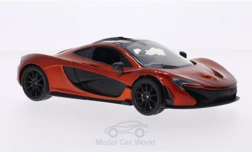 McLaren P1 1/24 Motormax métallisé orange/carbon miniature