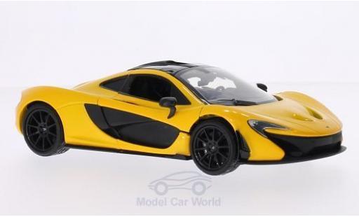 McLaren P1 1/24 Motormax métallisé jaune/noire miniature