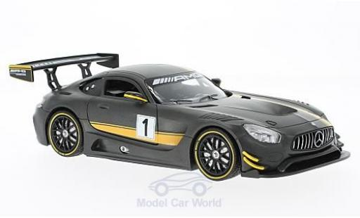 Mercedes AMG GT 1/24 Motormax 3 matt-grise Presentation miniature