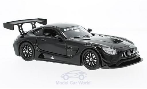 Mercedes AMG GT 1/24 Motormax 3 black diecast model cars
