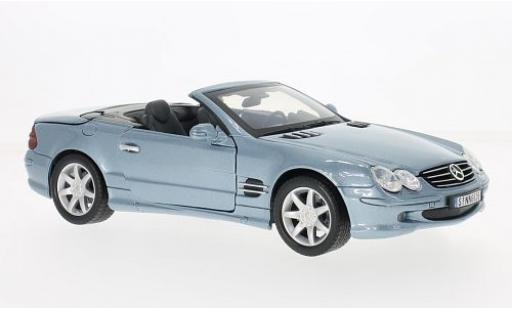 Mercedes Classe SL 1/18 Motormax SL 500 (R230) metallise bleue 2002 miniature
