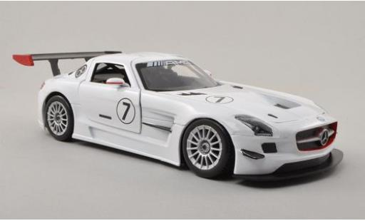 Mercedes SLS 1/24 Motormax AMG GT3 No.7 sans Vitrine miniature