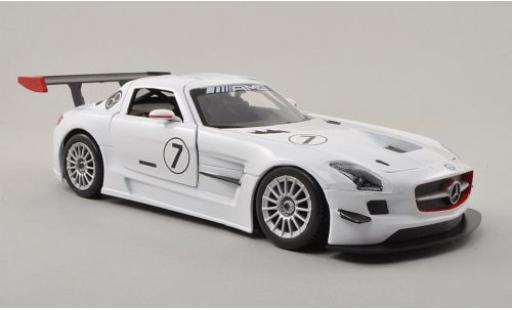 Mercedes SLS 1/24 Motormax AMG GT3 No.7 sans Vitrine modellino in miniatura