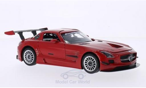 Mercedes SLS 1/24 Motormax AMG GT3 red diecast model cars