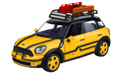 Mini Cooper 1/24 Motormax S All4 Countryman metallise jaune/noire avec Rack de toit miniature