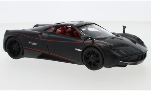 Pagani Huayra 1/24 Motormax matt-noire/rouge miniature