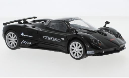 Pagani Zonda 1/24 Motormax F noire/Dekor Nuerburgring miniature