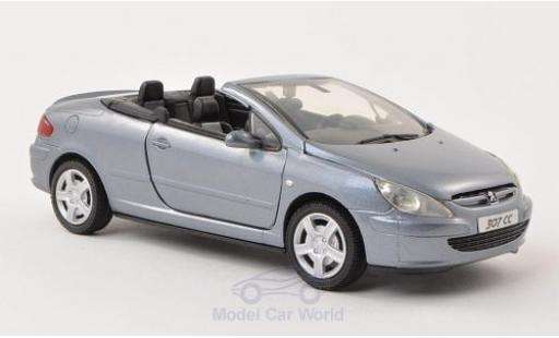 Peugeot 307 1/24 Motormax CC metallise bleue ohne Vitrine miniature