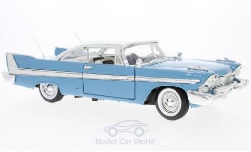 Plymouth Fury 1/18 Motormax bleue/blanche 1958 miniature