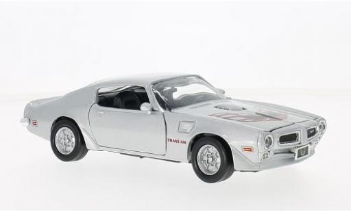 Pontiac Firebird 1/24 Motormax Trans Am grey/Dekor 1973 diecast model cars