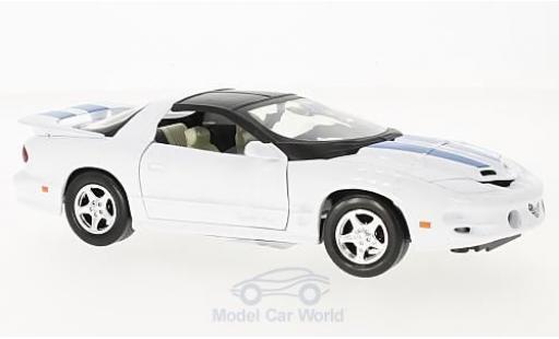Pontiac Firebird 1999 1/24 Motormax blanche/bleue 1999 miniature