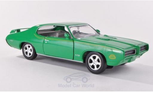 Pontiac GTO 1/24 Motormax Judge green 1969 diecast model cars