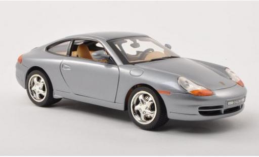 Porsche 996 1/18 Motormax 911  Carrera grey diecast model cars