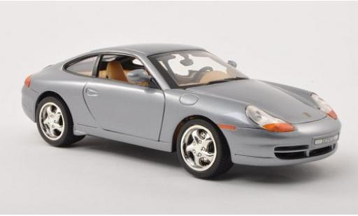 Porsche 996 1/18 Motormax 911  Carrera grey diecast model cars