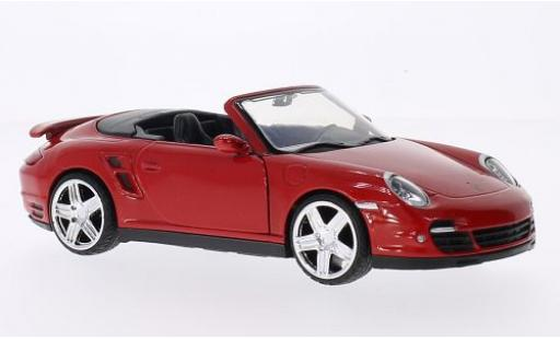 Porsche 997 Turbo 1/24 Motormax 911 Cabriolet  red diecast model cars