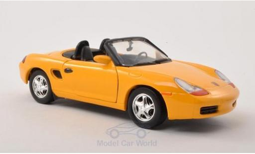 Porsche Boxster 1/24 Motormax (986) yellow diecast model cars