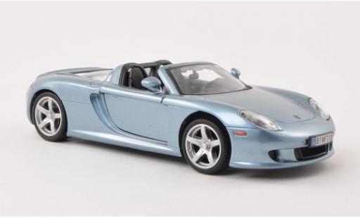 Porsche Carrera GT 1/24 Motormax metallise bleue miniature