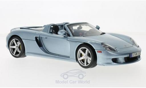 Porsche Carrera GT 1/18 Motormax metallise blue 2004 diecast model cars