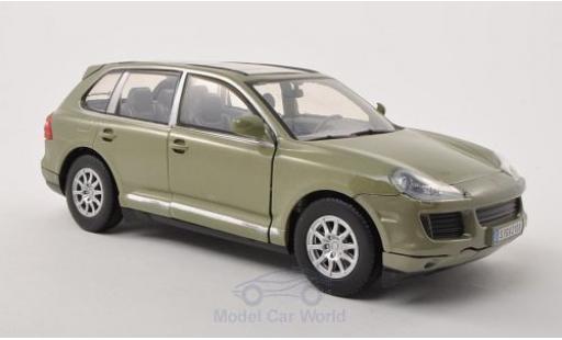 Porsche Cayenne S 1/24 Motormax (9PA) metallise oliv 2008 miniature