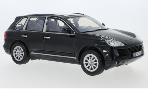 Porsche Cayenne 1/18 Motormax (9PA) metallise noire 2008 miniature