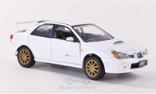Subaru Impreza 1/24 Motormax WRX STi blanche miniature