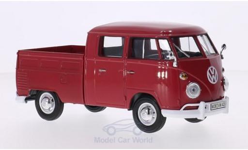 Volkswagen T1 A 1/24 Motormax DoKa rouge miniature
