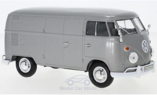 Volkswagen T1 1/24 Motormax Kasten metallise grise miniature