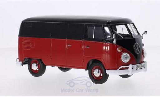 Volkswagen T1 A 1/24 Motormax Kasten noire/rouge miniature