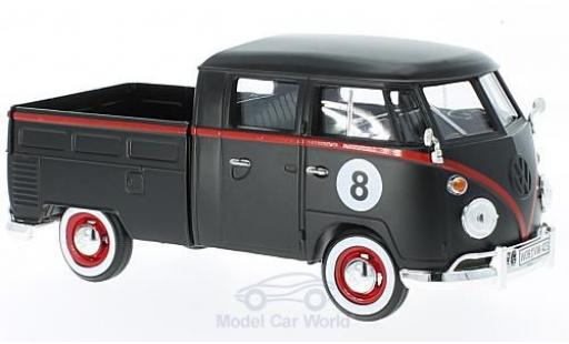 Volkswagen T1 1/24 Motormax black Hot Rod diecast model cars