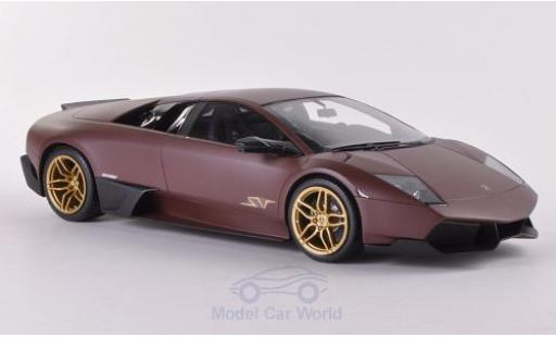 Lamborghini Murcielago LP670-4 1/18 MR Collection SV matt-brown Türen und Hauben geschlossen diecast model cars