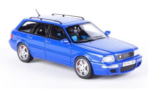 Audi RS2 1/43 Neo metallise bleue miniature