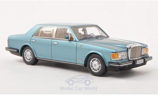 Bentley Mulsanne 1/43 Neo metallise bleue 1980 miniature