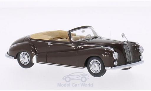 Bmw 502 1/43 Neo BMW Cabriolet Autenrieth marron 1956 miniature