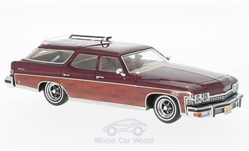 Buick Le Sabre 1/43 Neo Estate Wagon metallise rouge/Holzoptik 1974 miniature