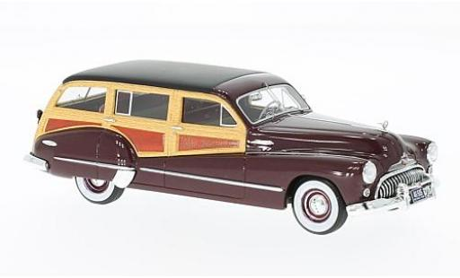 Buick Roadmaster 1/43 Neo 79 Estate Wagon rouge/Holzoptik 1947 miniature