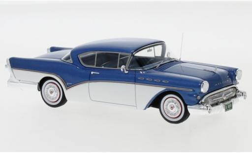 Buick Roadmaster 1/43 Neo Hardtop Coupe metallise blue/white 1957 diecast model cars