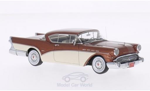 Buick Roadmaster 1/43 Neo Hardtop Coupe métallisé marron/blanche 1957 miniature