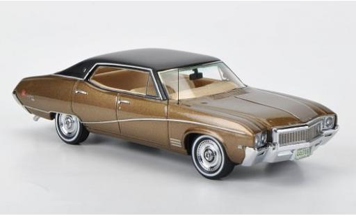 Buick Skylark 1/43 Neo Sedan metallise marron/matt-noire 1968 miniature