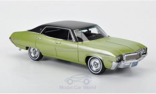 Buick Skylark 1/43 Neo Sedan métallisé verte/matt-noire 1968 miniature