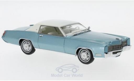 Cadillac Eldorado 1/43 Neo Coupe metallise turquoise/blanche 1967 miniature