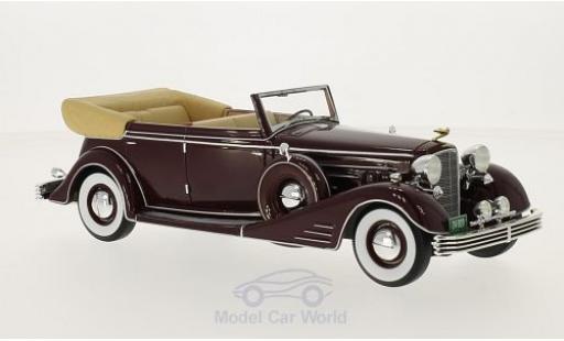 Cadillac Fleetwood 1/24 Neo Allweather Phaeton rouge 1933 miniature
