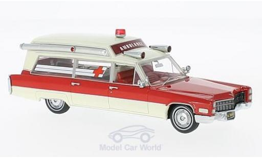 Cadillac S & S 1/43 Neo Ambulance rouge/blanche 1966 miniature