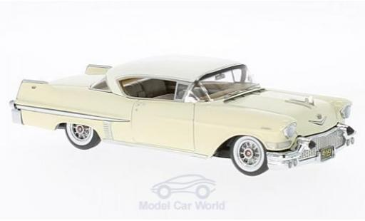 Cadillac Series 62 1/43 Neo Hardtop Coupe beige/blanche 1957 miniature