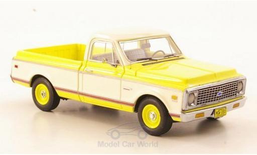 Chevrolet C-10 1/43 Neo helljaune/blanche 1971 miniature