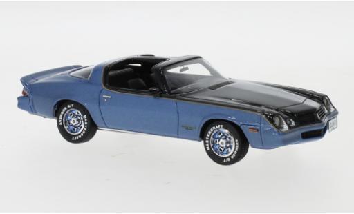 Chevrolet Camaro 1/43 Neo LT metallise bleue/noire 1978 miniature